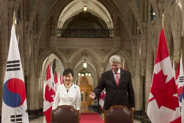 L'accord de libre-échange entre le Canada et la... (Photo Adrian Wyld, PC)