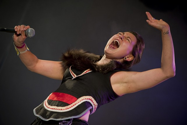 Tanya Tagaq... (Photo: fournie par Orjan Bertelsen)