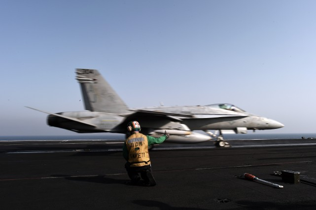 L'opération de la coalition a été menée au... (PHOTO MOHAMMED AL-SHAIKH, ARCHIVES AFP)