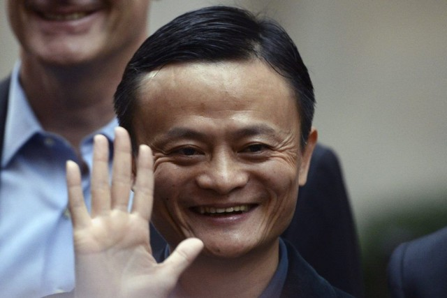 Le fondateur d'Alibaba, Jack Ma, a engrangé quelque... (PHOTO JEWEL SAMAD, AFP)