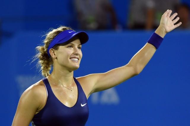 Eugenie Bouchard a gagné son premier duel en... (Photo Greg BAKER, AFP)