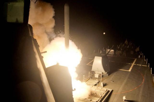 La majorité des tirs de missiles Tomahawk tirés... (Photo: AFP)