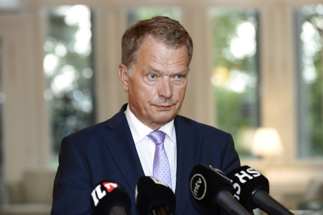 Le président de laFinlande, Sauli Niinistö, a été... (PHOTO HEIKKI SAUKKOMAA, ARCHIVES ASSOCIATED PRESS)