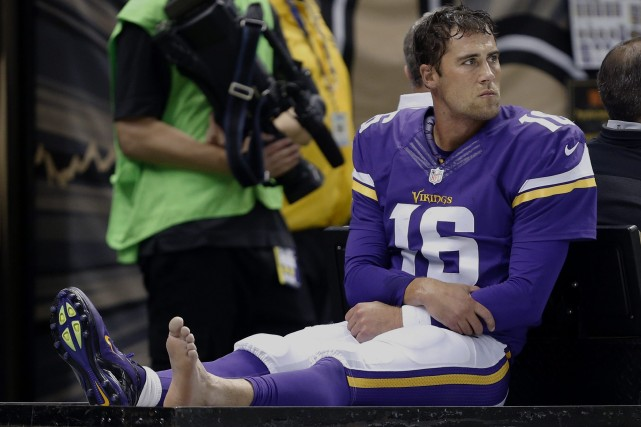 Les Vikings du Minnesota devront se priver de leur quart partant Matt Cassel... (Photo Rogelio Solis, AP)