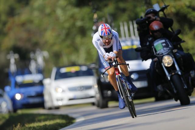 Bradley Wiggins, vainqueur du Tour de France 2012,... (Photo Daniel Ochoa de Olza, AP)