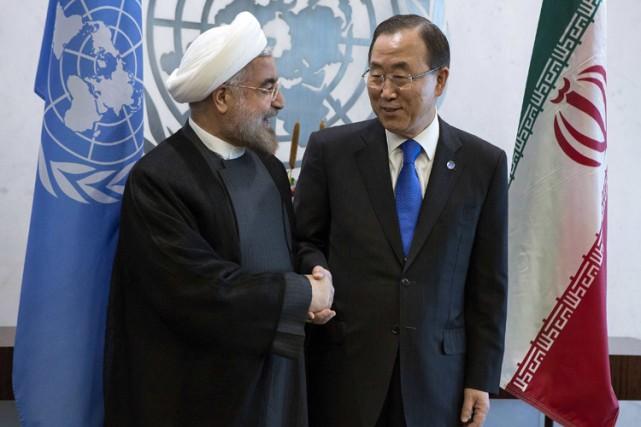 Hassan Rohani a notamment rencontré mercredi leSecrétaire général... (Photo: Reuters)