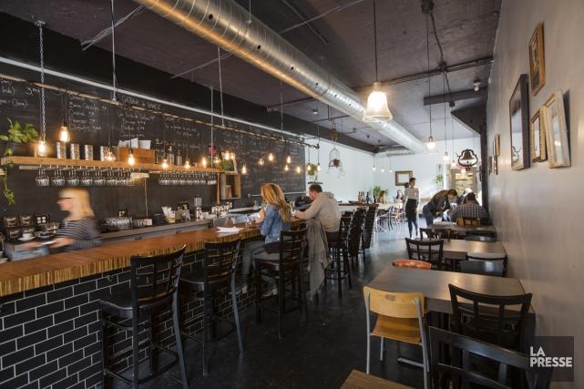 Le restaurant Ma'tine est bien spacieux, avec des... (PHOTO EDOUARD PLANTE-FRECHETTE, LA PRESSE)