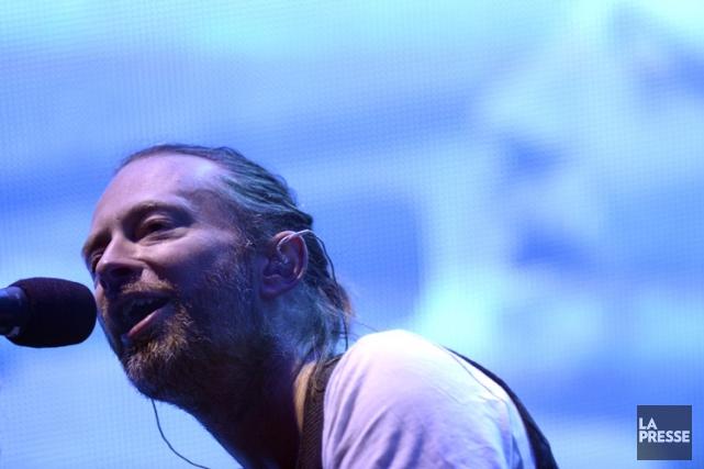 Le chanteur de Radiohead Thom Yorke en concert... (PHOTO BERNARD BRAULT, ARCHIVES LA PRESSE)
