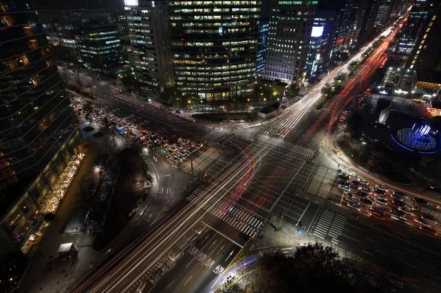 Le centre-ville de Séoul.... (Photo archives Bloomberg)