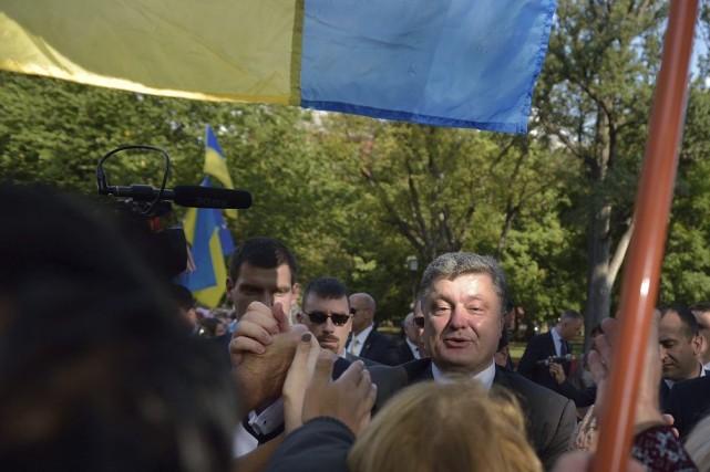 Le chef de l'État ukrainien devrait détailler ses... (PHOTO MANDEL NGAN, AGENCE FRANCE PRESSE)