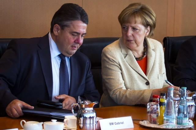 Le ministre allemand de l'Économie et de l'Énergie,Sigmar... (PHOTO ODD ANDERSEN, AFP)