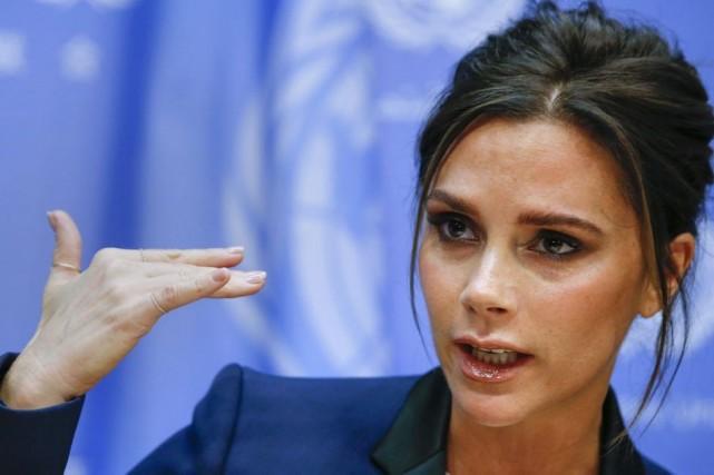 Victoria Beckham a annoncé au siège de l'ONU... (Photo: Reuters)