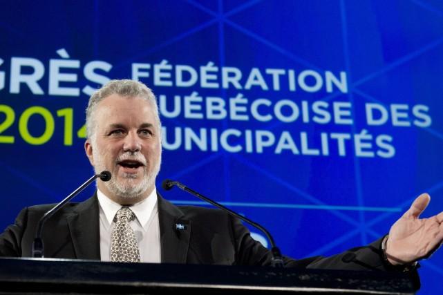 Le premier ministre Philippe Couillard... (Photo Jacques Boissinot, PC)
