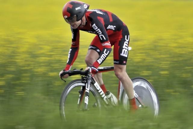 Cadel Evans durant le Tour de Romandie en... (Photo: archives AFP)