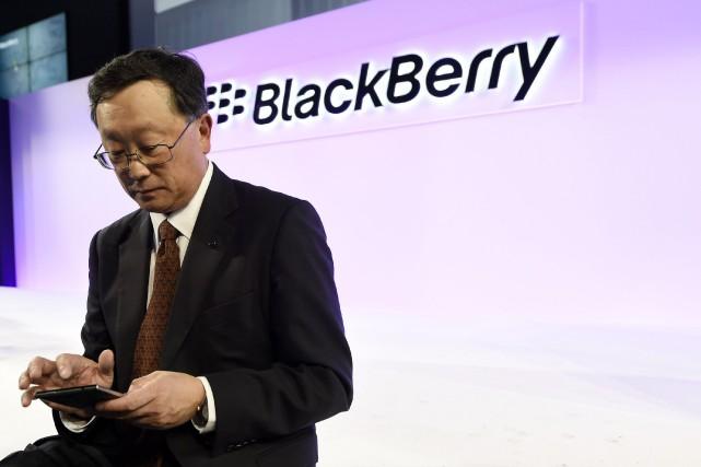 Le président de Blackberry John Chen... (Photo Aaron Harris, Reuters)