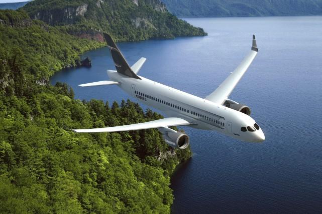 L'avion CS300 de Bombardier... (Photo fournie par Bombardier)