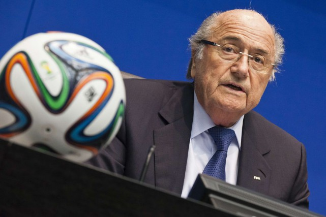 Joseph Blatter est âgé de 78 ans.... (Photo Michael Buholzer, archives AFP)