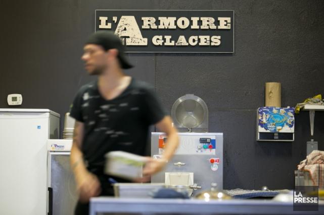 La crème glacée au chocolat noir est certainement... (Photo François Roy, La Presse)