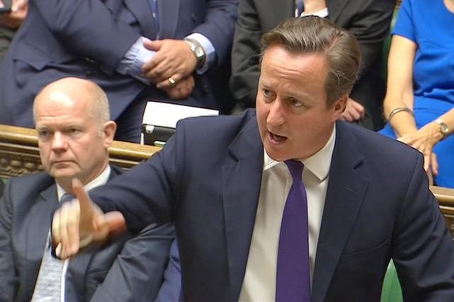Le premier ministre a martelé que l'intervention envisagée... (IMAGE REUTERS TV)