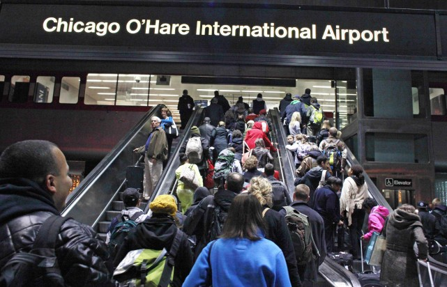 Second plus important aéroport américain, O'Hare accueille plus... (PHOTO BOB STRONG, ARCHIVES REUTERS)