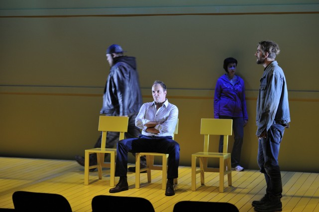 Guillaume Cyr, Denis Bernard, Marie Michaud et Hubert... (Photo: Suzane O'Neill, fournie par la production)