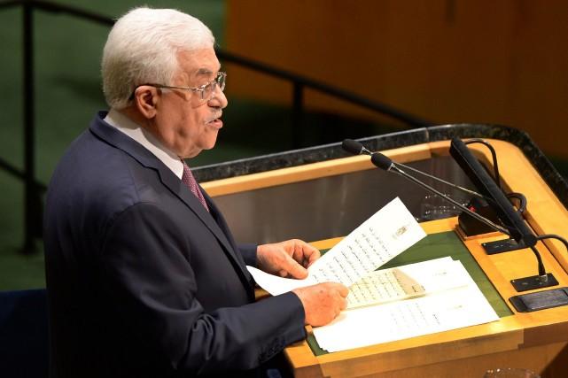 Le président palestinien Mahmoud Abbas a réclamé vendredi à la tribune de l'ONU... (Photo Don Emmert, AFP)