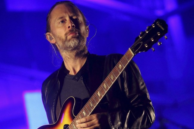 Thom Yorke en spectacle au Austin City Limits... (Photo: archives AP)