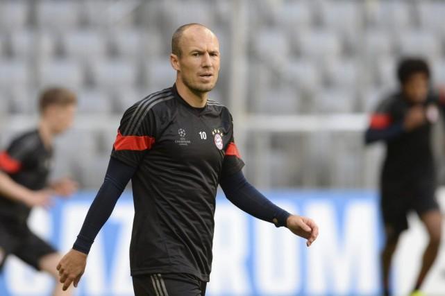 Arjen Robben... (PHOTO CHRISTOF STACHE, AFP)
