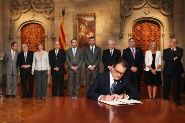 Le président du gouvernement catalan, Artur Mas, a... (PHOTO AGENCE FRANCE PRESSE)