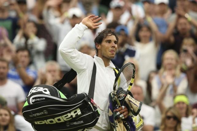 Rafael Nadal n'a pas disputé de match depuis... (Photo Andrew Yates, AFP)