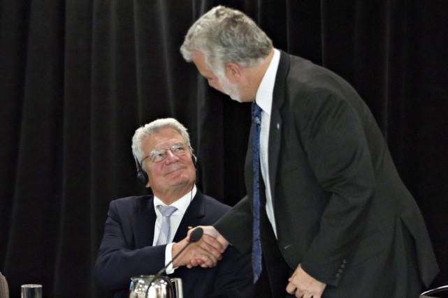 Le président de la République fédérale d'Allemagne, Joachim... (PHOTO CLÉMENT ALLARD, PC)