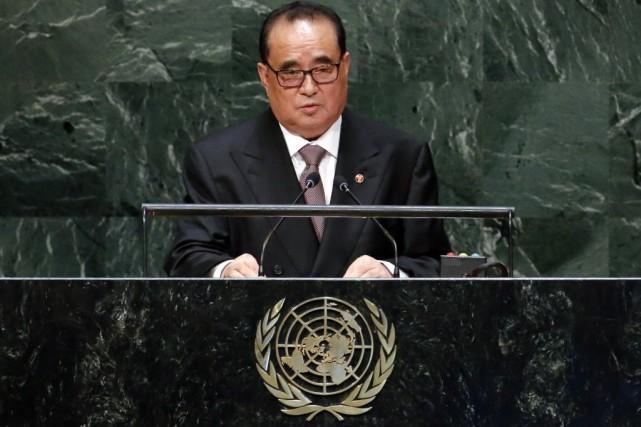 Le ministre des affaires étrangères nord-coréen, Ri Su... (PHOTO RAY STUBBLEBINE, REUTERS)
