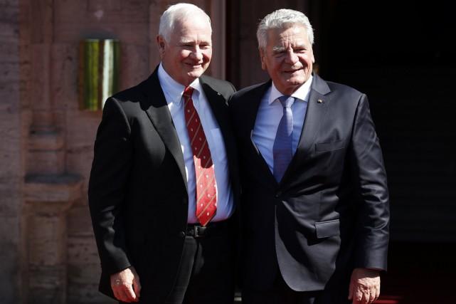 Le président de la République fédérale d'Allemagne, Joachim... (Photo Chris Wattie, Reuters)
