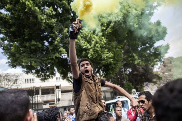Les manifestants acquittés dimanche, des pro-Morsi, avaient été... (Photo MAHMOUD KHALED, Archives AFP)