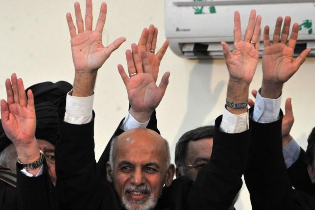 Ashraf Ghanisuccèdera officiellement à Hamid Karzaï, seul homme... (Photo Noorullah Shirzada, AFP)