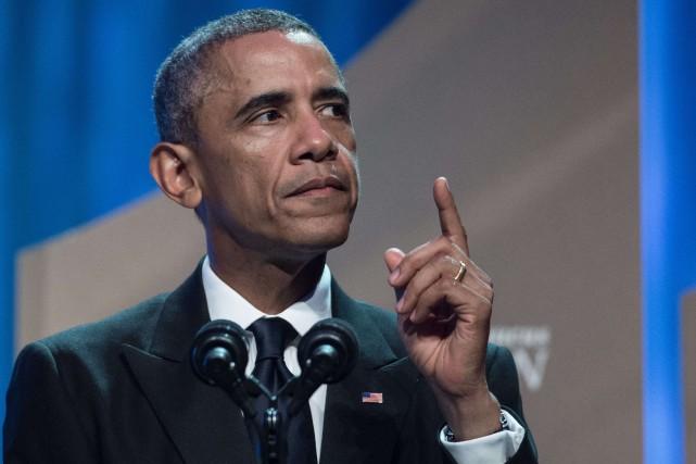 Obama a estimé que les propagandistes de l'EI... (PHOTO NICHOLAS KAMM, AFP)
