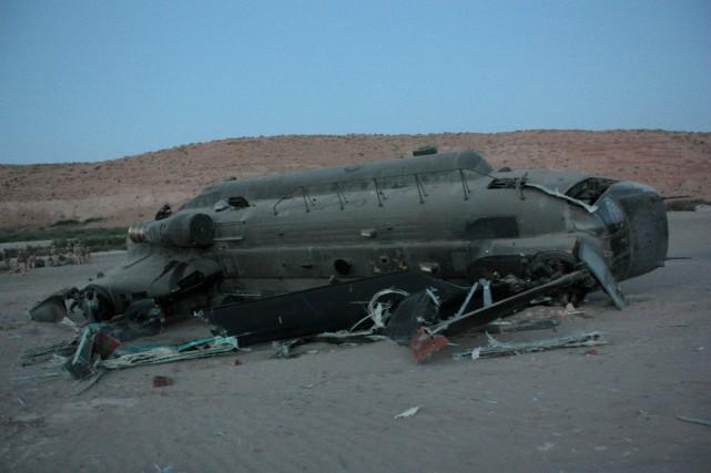 L'hélicoptère qui s'est écrasé en 2011... (Photo COLIN PERKEL, PC)