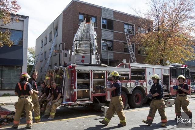 Le Service de sécurité incendie de la Ville... (Photo La Presse, Simon Giroux)