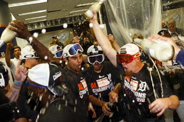 Les joueurs des Tigers ont célébré leur participation... (PHOTO RICK OSENTOSKI, USA TODAY)