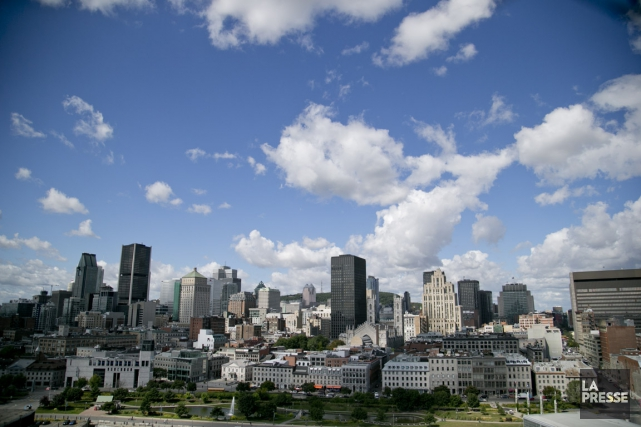 Vue panoramique du centre-ville de montreal vue du... (PHOTO DAVID BOILY, ARCHIVES LA PRESSE)