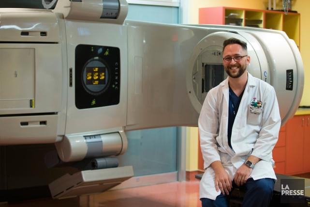 Christian Boisvert-Huneault, 31 ans, est technologue en radio-oncologie... (PHOTO FRANÇOIS ROY, LA PRESSE)