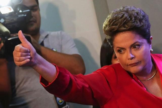 Dilma Rousseff se présente comme la garante de... (PHOTO: REUTERS)