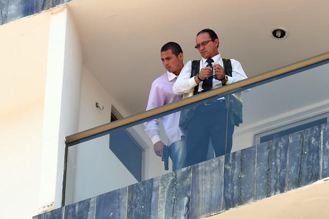 Le ravisseur, muni d'un révolver, a fait plusieurs... (Photo EVARISTO SA, AFP)