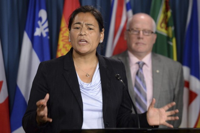 La présidente de l'Association des femmes autochtones du... (PHOTO SEAN KILPATRICK, PC)