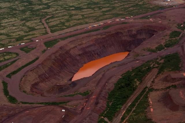 Une mine de fer de la compagnieNew MillenniumIron... (PHOTO ARCHIVES BLOOMBERG)