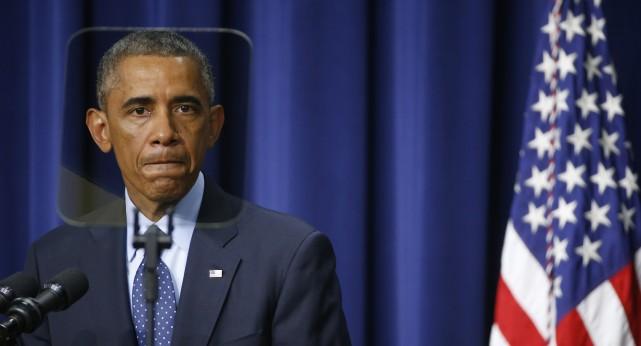 On a l'impression que Barack Obama est le... (Photo Kevin Lamarque, Reuters)