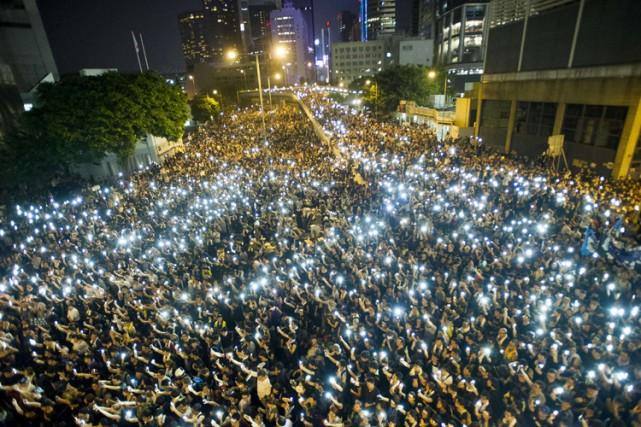 Les manifestants s'opposent au rejet par Pékin, le... (Photo: AFP)