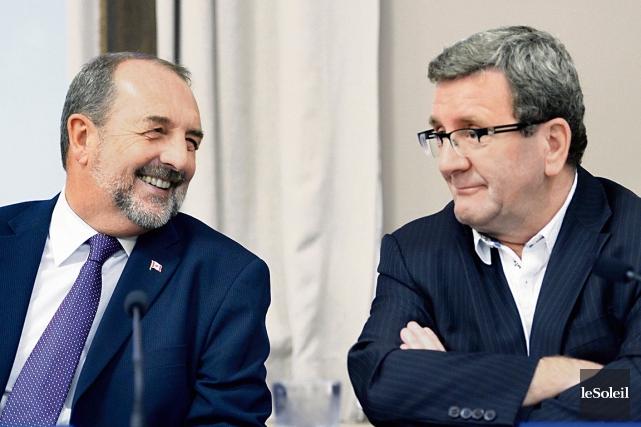 Le ministre fédéral de l'Agence de développement économique,... (Le Soleil, Jean-Marie Villeneuve)