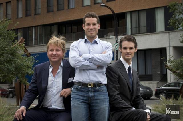 Daniel Saks (au centre) et Nicolas Desmarais (à... (PHOTO IVANOH DEMERS, ARCHIVES LA PRESSE)