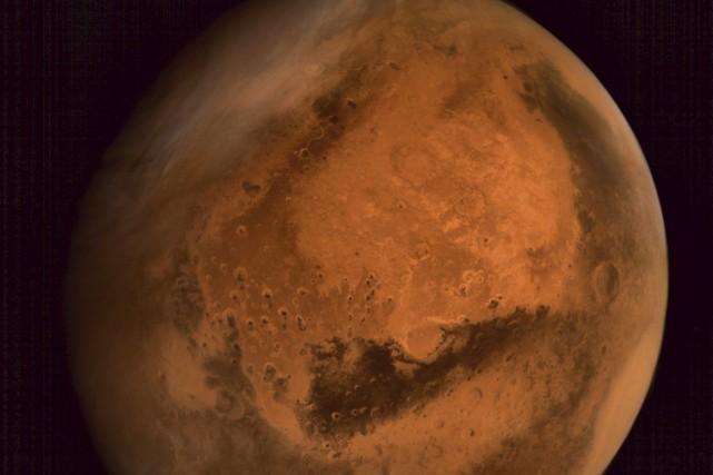 On sait depuis longtemps que le paysage martien... (PHOTO AGENCE FRANCE-PRESSE/ISRO)
